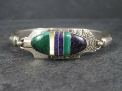 Navajo Inlaid Feather Bracelet 6 Inches G Howe