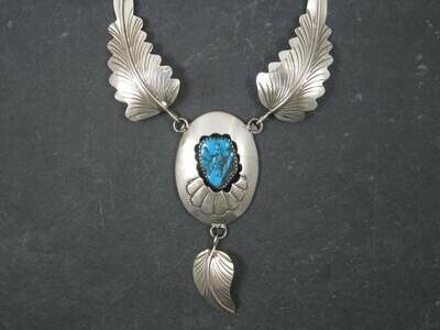 Vintage Navajo Shadowbox Feather Necklace Arnold Maloney