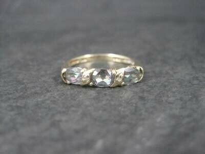 Vintage 10K Mystic Topaz Ring Size 7