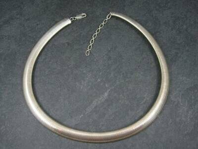 Estate 10mm Sterling Snake Chain Necklace 17-19 Inches