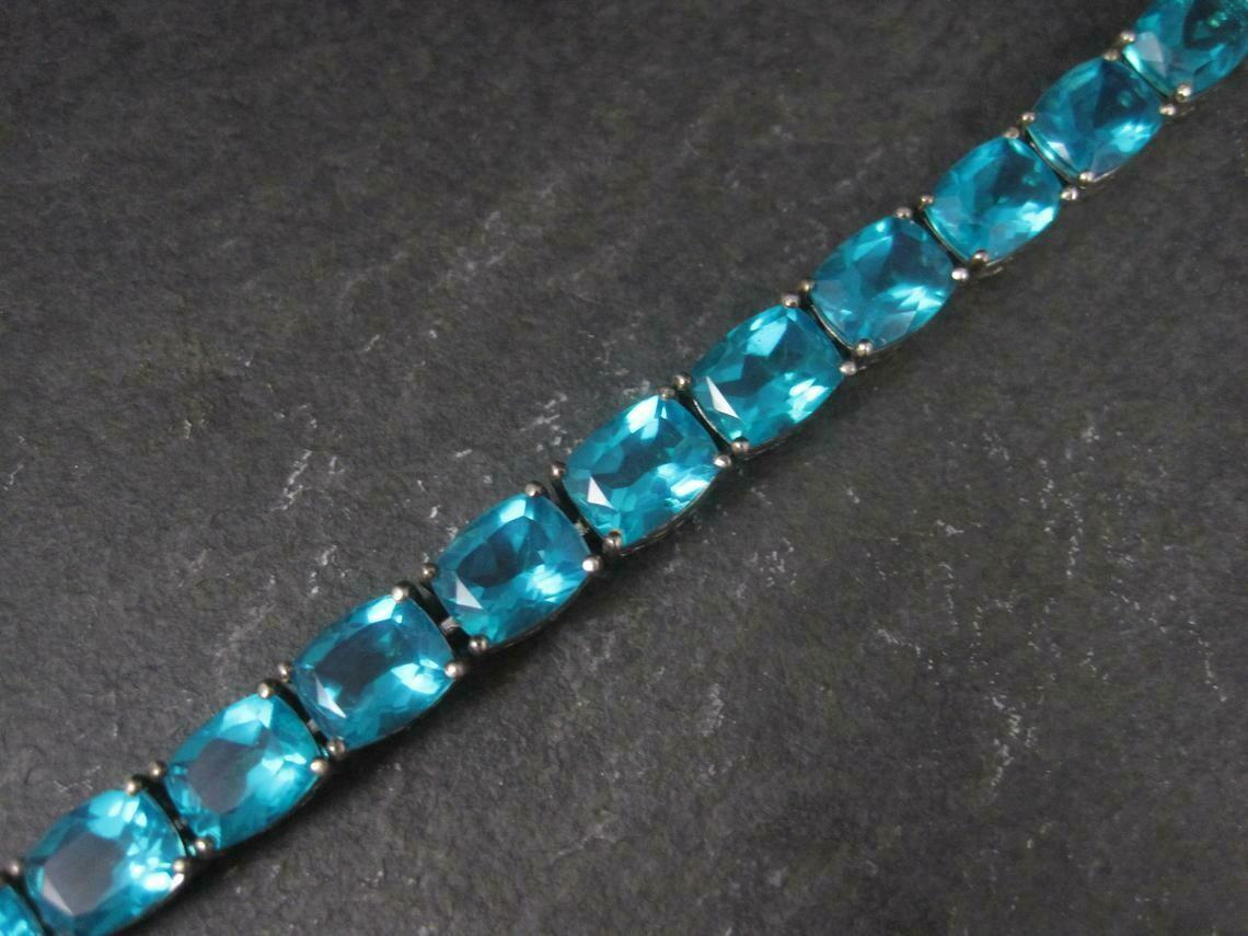 Estate Sterling Paraiba Quartz Bracelet 7.5 Inches Chuck Clemency