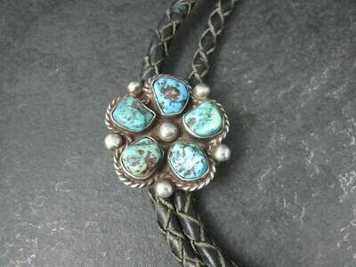 Dead Pawn Sterling Turquoise Bolo Tie