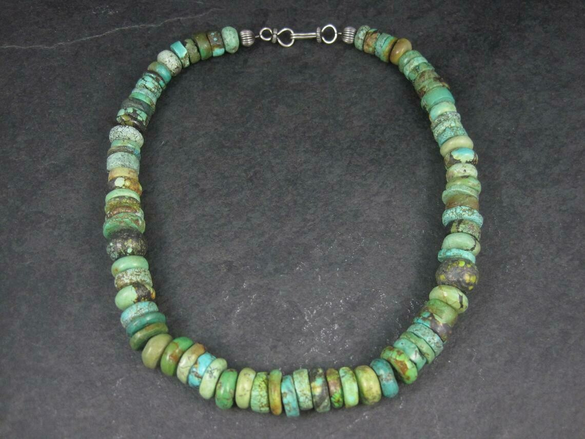 Southwestern Estate Turquoise Necklace 18 Inches
