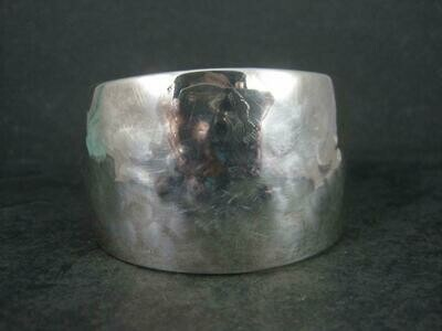 Estate Hammered Sterling Cuff Bracelet 6 Inches