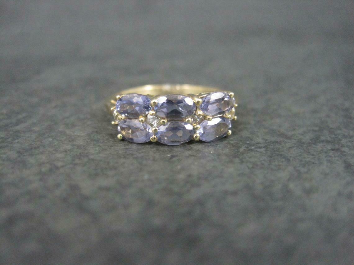 Estate 10K Iolite Ring Size 6.75 Chuck Clemency