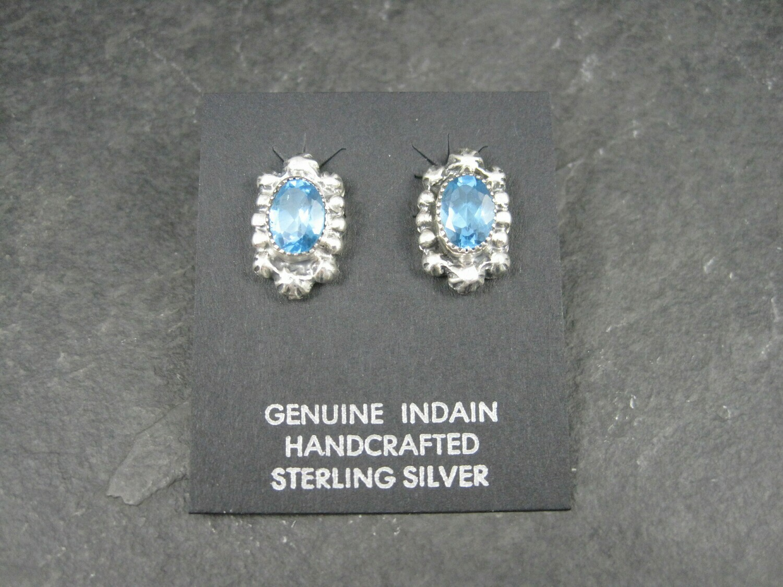 Navajo Sterling Blue Topaz Earrings