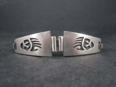 Ladies Vintage Sterling Hopi Badger Paw Watch Band Lugs Darren Seweyestewa