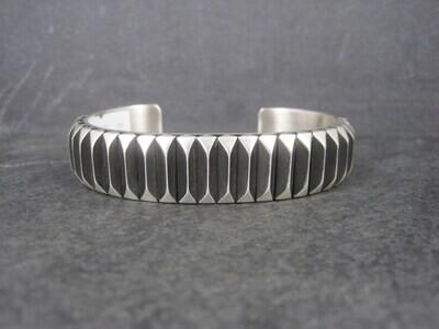 Heavy Contemporary Navajo Cuff Bracelet 7 Inches