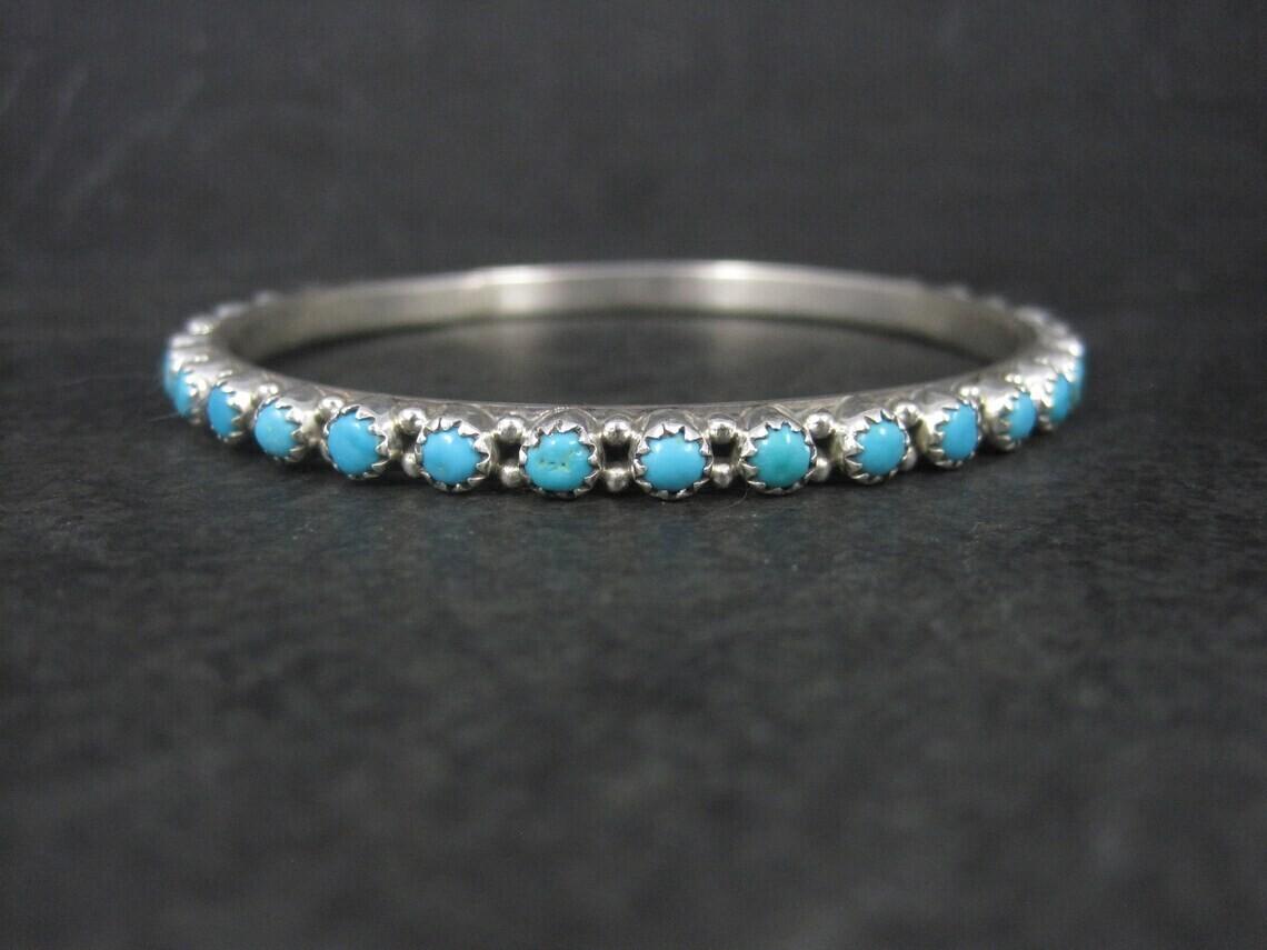 Native American Turquoise Bangle Bracelet 7.5 Inches