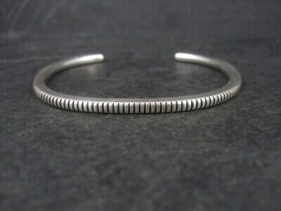 Contemporary Navajo Sterling Cuff Bracelet 6.75 Inches Boyd Tsosie
