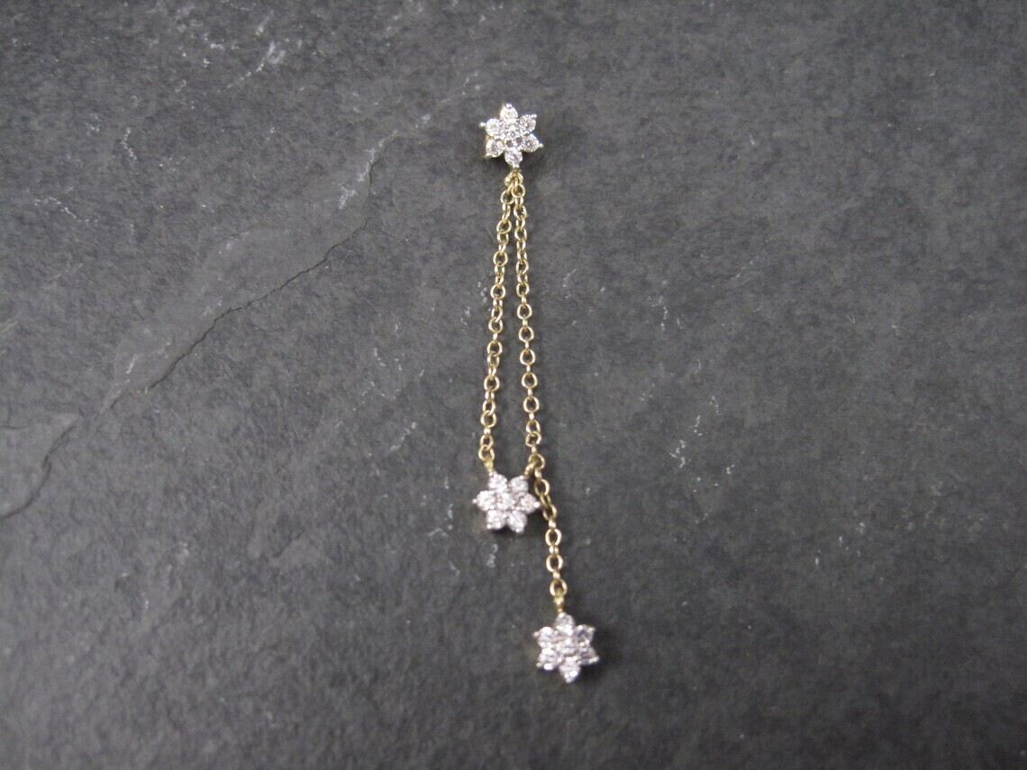 Dainty 14K Diamonique Flower Pendant
