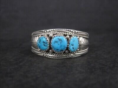 Navajo Sterling Turquoise Baby Cuff Bracelet Begaye