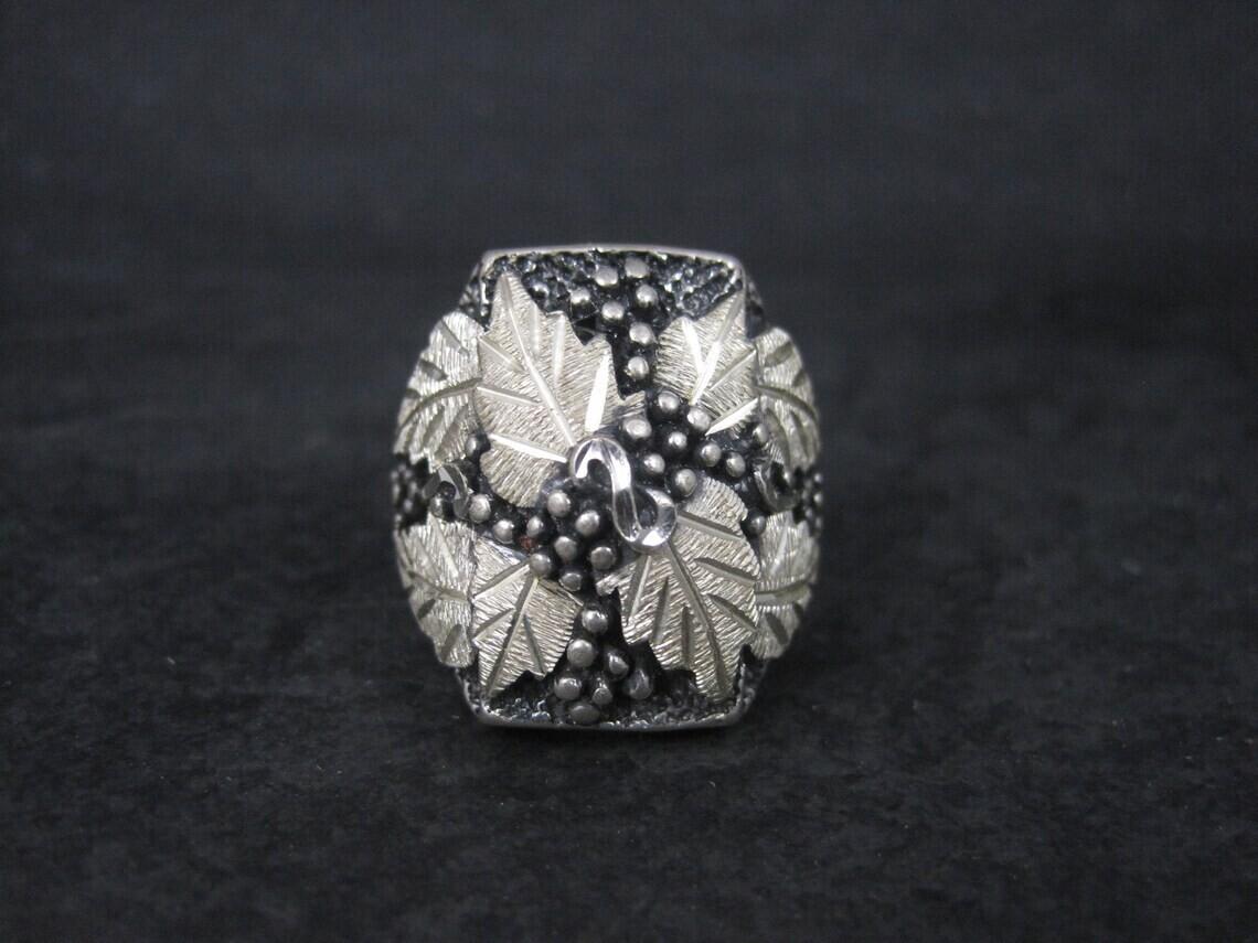 Mens Sterling Black Hills Silver Ring Size 9