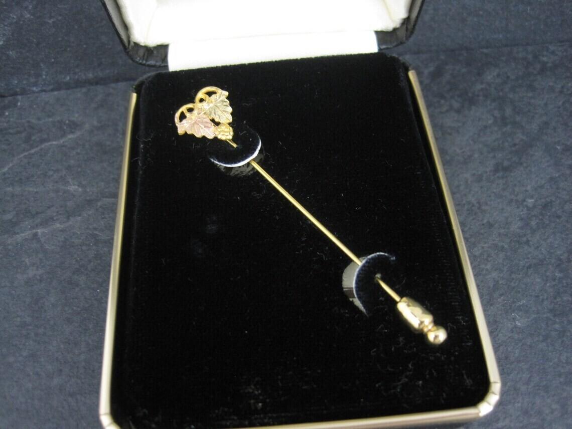 Vintage 10K Black Hills Gold Stick Pin FL Thorpe