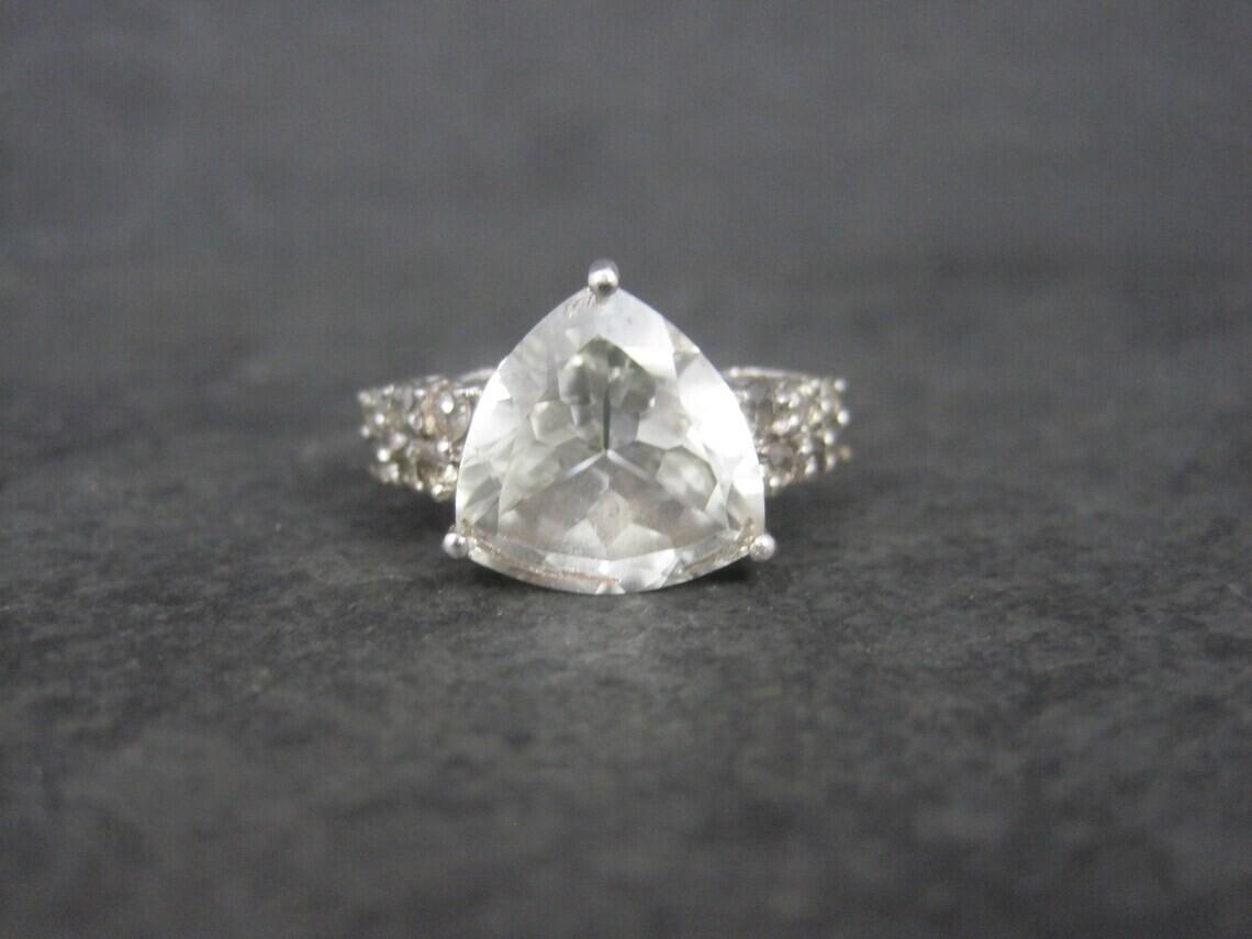 Estate Sterling Goshenite Topaz Ring Size 8