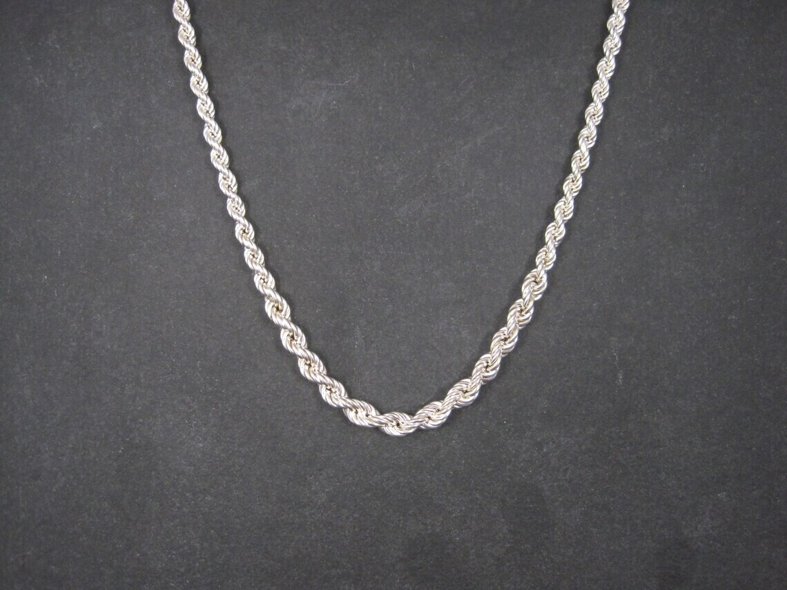 Graduated Italian Sterling Twisted Rope Chain 18 Inches