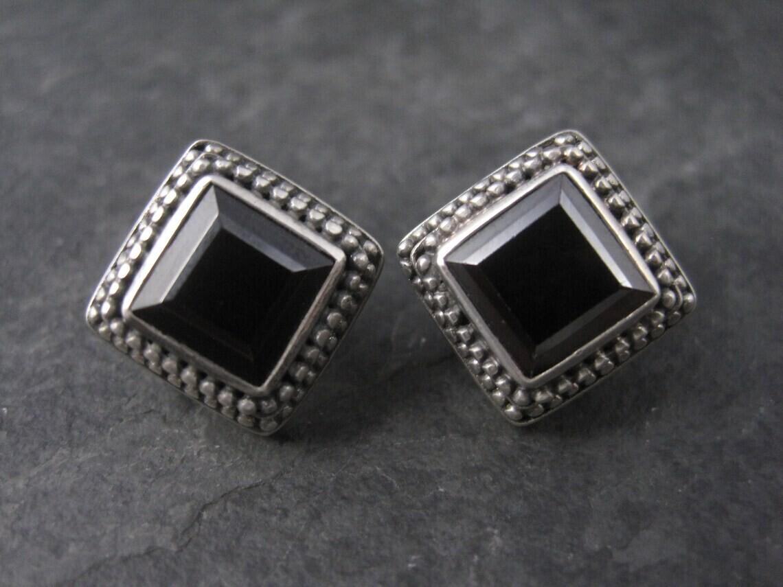 Sterling Garnet French Back Earrings