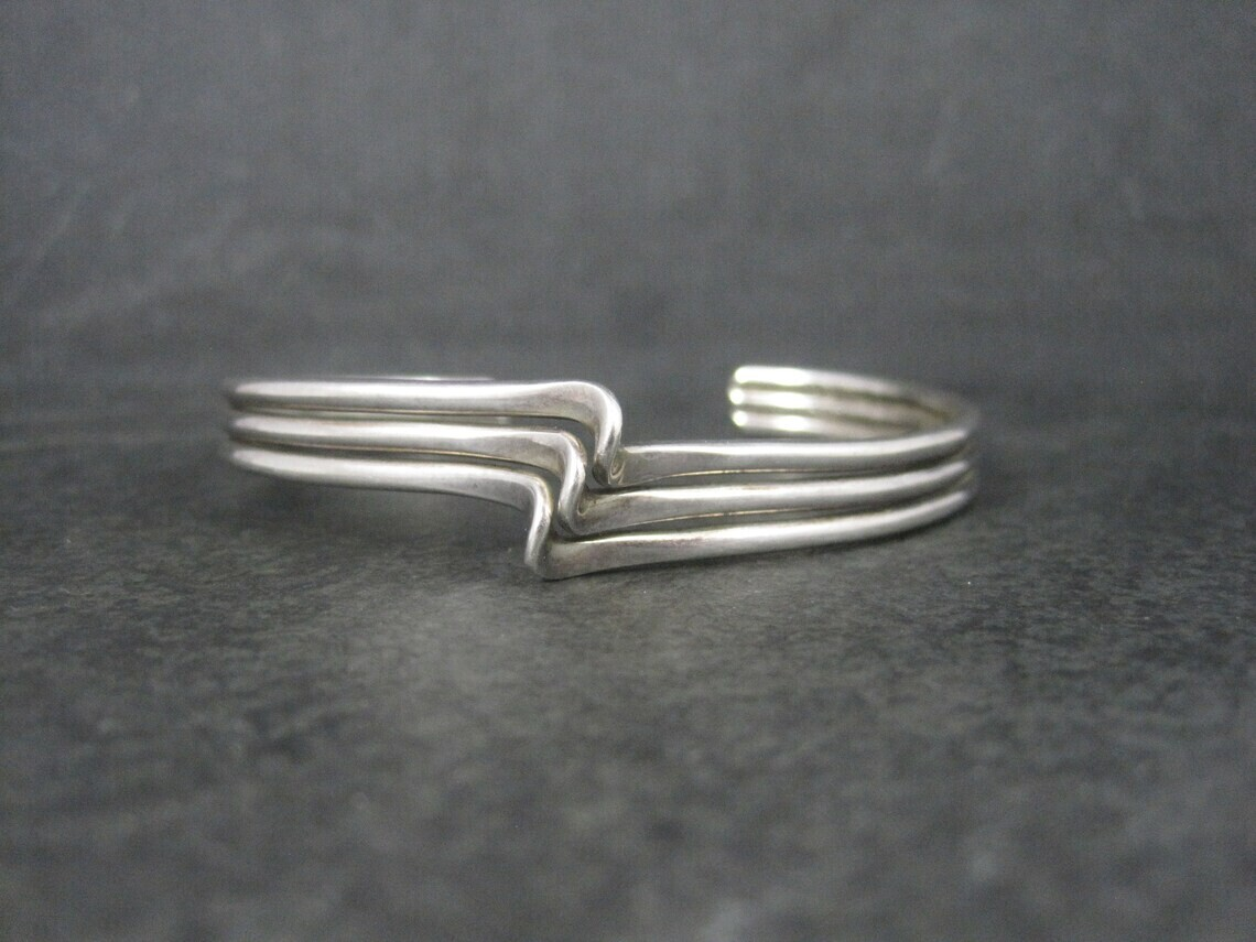 Mexican Sterling Cuff Bracelet 6.5 Inches