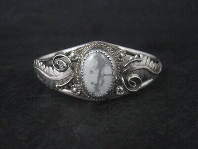 Southwestern Estate Howlite Cuff Bracelet 6 Inches