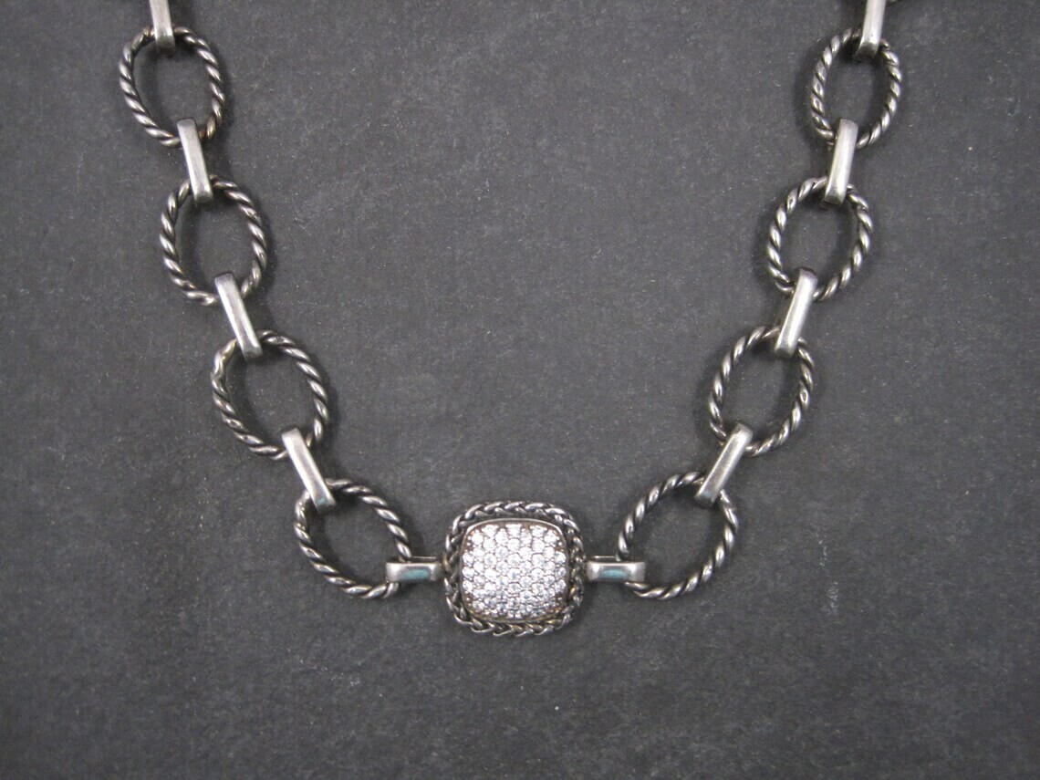 Estate Sterling Cubic Zirconia Necklace