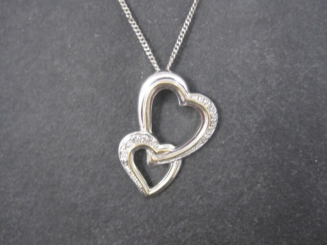 Mother Holds Her Daughters Heart Forever Sterling Diamond Pendant