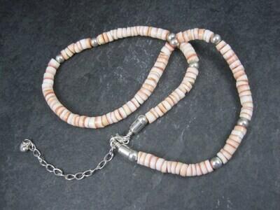 Vintage Sterling Shell Necklace Desert Rose Trading