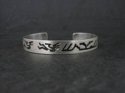 Estate Southwestern Sterling Kokopelli Cuff Bracelet 6.25 Inches