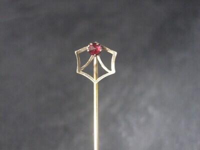 Dainty Vintage 14K Spinel Stick Pin