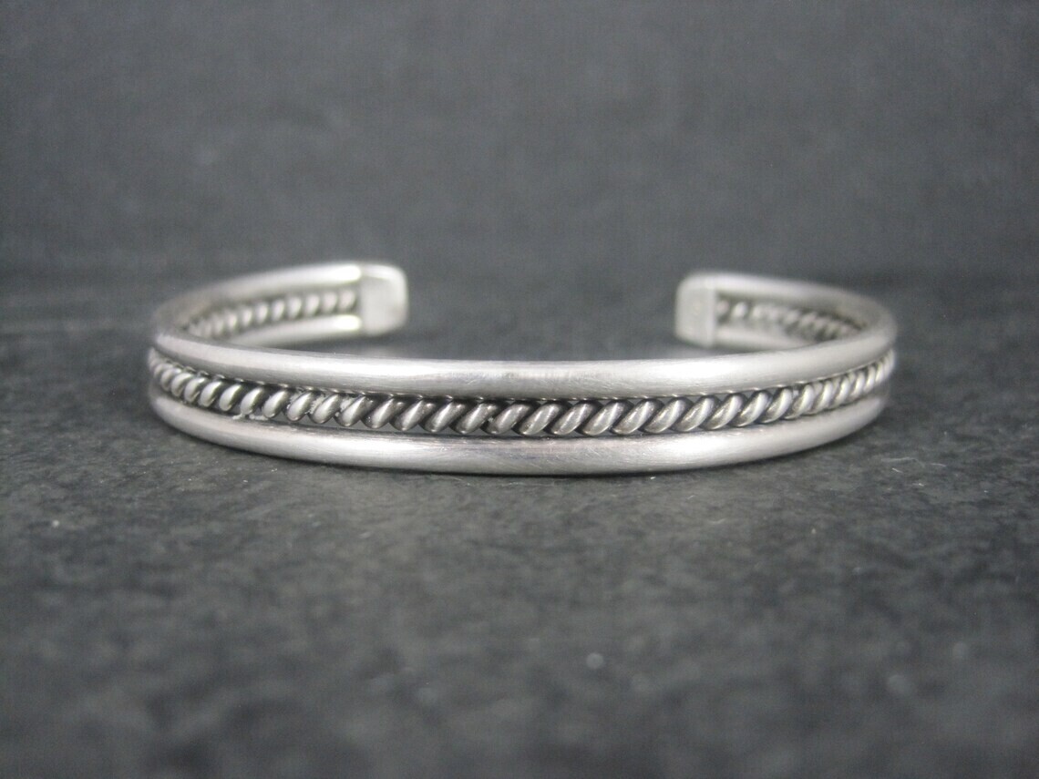 Southwestern Estate Sterling Cuff Bracelet 6 Inches