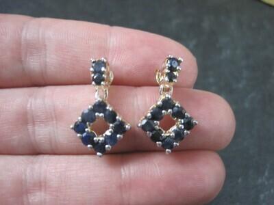 Estate Sterling Sapphire Earrings