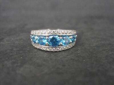 Estate Sterling Apatite Ring Size 5