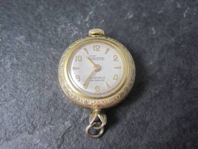 Vintage Gold Filled Swiss Racine Pendant Watch Gallet & Co