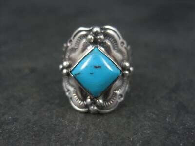 Vintage Southwestern Sterling Turquoise Ring Size 6
