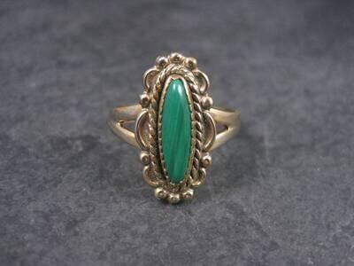 Estate Southwestern Malachite Ring Size 8 Bell Trading Post