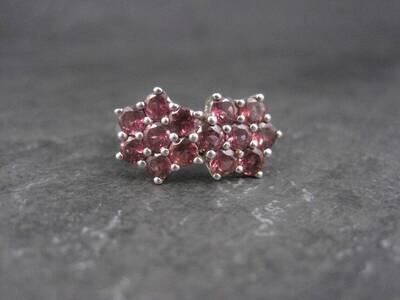 Estate Sterling Rhodolite Garnet Ring Size 9