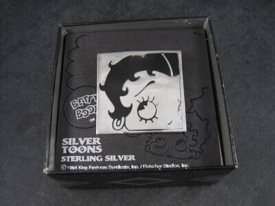 Vintage Sterling Betty Boop Brooch