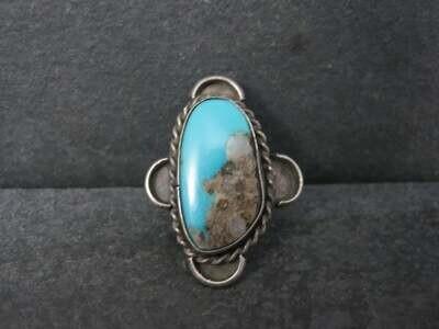 Vintage Southwestern Boulder Turquoise Ring Size 5