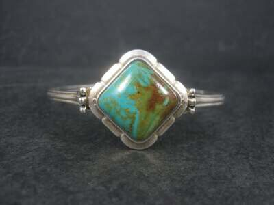 Southwestern Barse Sterling Turquoise Cuff Bracelet 7 Inches