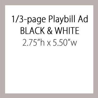 OPTION #1: One Third Page Ad