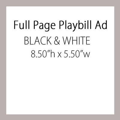 OPTION 3: Full Page Ad BLACK & WHITE