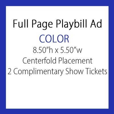 OPTION #5: Full pg. Ad  COLOR/Centerfold