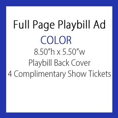 OPTION #6: Full pg. Ad COLOR/BACK COVER