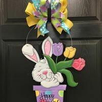 Easter Bunny w/ Tulips