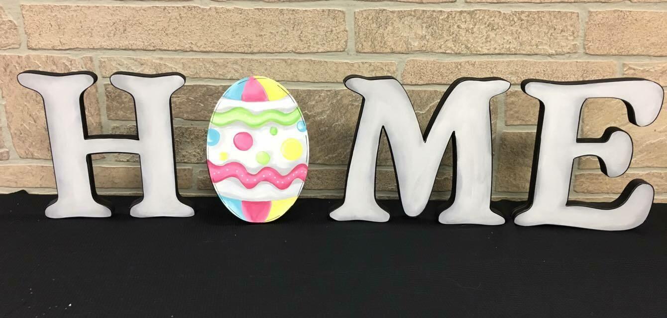 Easter Egg Home Shelf Sitter Set