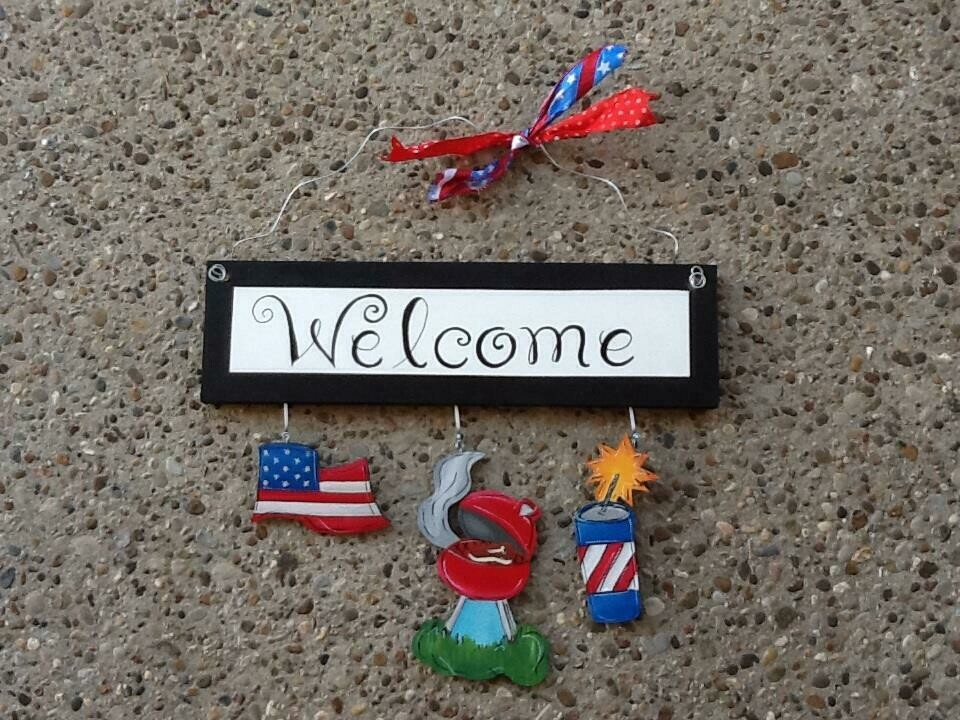 Welcome Board 4th of July Set Only