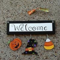 Welcome Board Halloween Set Only