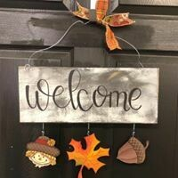 Welcome Board Fall Set Only