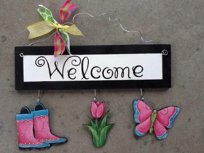 Welcome Board Spring Set Only