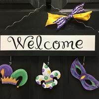 Welcome Board Mardi Gras Set Only