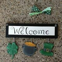 Welcome Board St. Patrick's Day Set Only